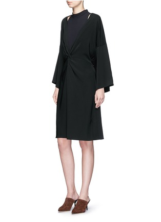 Figure View - Click To Enlarge - Rosetta Getty - Twist knot front kimono dress