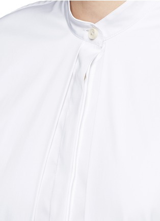 Detail View - Click To Enlarge - Rosetta Getty - Split front cotton blend poplin long shirt