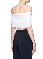 Rib knit off-shoulder cropped top