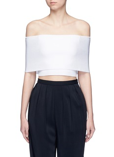 Rosetta Getty Rib knit off-shoulder cropped top
