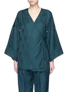 Rosetta GettyCutout sleeve kimono wrap top