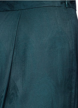 Detail View - Click To Enlarge - Rosetta Getty - Peacock jacquard pleat front pants