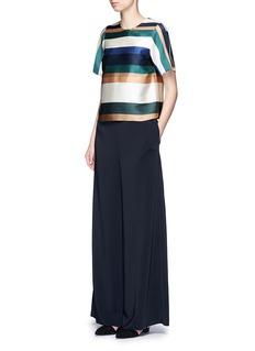Rosetta GettyStripe silk blend satin cropped T-shirt