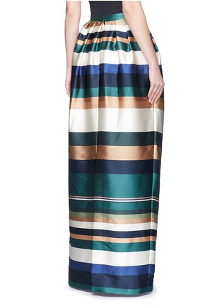 Back View - Click To Enlarge - Rosetta Getty - Stripe silk blend satin maxi skirt