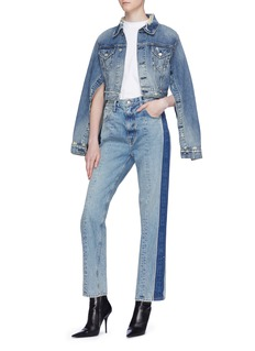 TRE by Natalie Ratabesi Button placket sleeve cropped jacket
