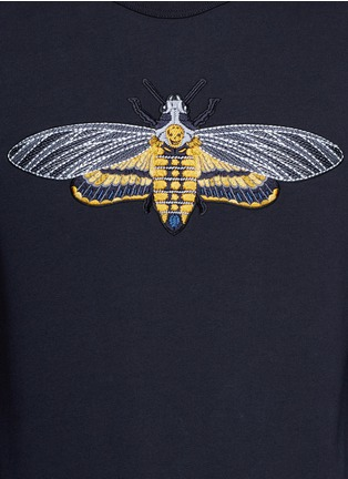Detail View - Click To Enlarge - Alexander McQueen - Skull moth embroidery sweatshirt