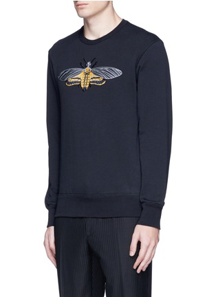 Front View - Click To Enlarge - Alexander McQueen - Skull moth embroidery sweatshirt