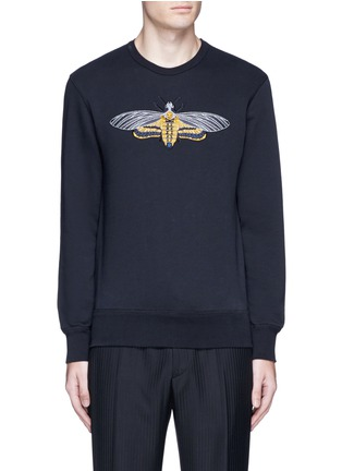 Main View - Click To Enlarge - Alexander McQueen - Skull moth embroidery sweatshirt