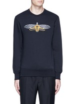Skull moth embroidery sweatshirt