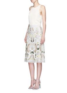 NEEDLE & THREAD'Ornate Sunflower' sequin bead embellished skirt