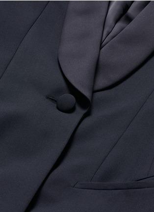 Detail View - Click To Enlarge - Balenciaga - Shawl lapel virgin wool coat