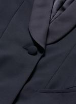 Shawl lapel virgin wool coat