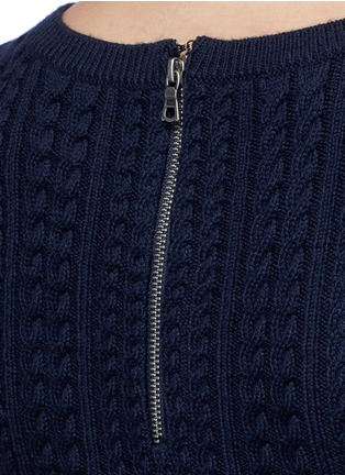Detail View - Click To Enlarge - alice + olivia - 'Dacey' drop waist cable knit dress