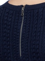 'Dacey' drop waist cable knit dress