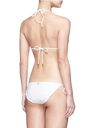 Back View - Click To Enlarge - ViX - 'Fresh White Scales' tie side bikini bottoms