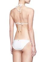 'Fresh White Scales' tie side bikini bottoms