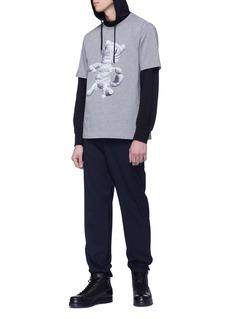 Juun.J x Adeel uz Zafar mummy cat print T-shirt