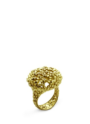 Main View - Click To Enlarge - Jo Hayes Ward - 'Diamond Cushion' 18k yellow gold structural ring