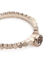 'Single Hex' rose cut diamond 18k white gold ring