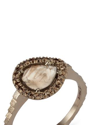 Detail View - Click To Enlarge - Jo Hayes Ward - 'Stratus Diamond Slice 3' 18k white gold ring