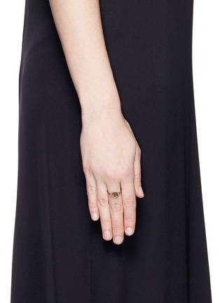 Jo Hayes Ward-'Stratus Diamond Slice 3' 18k white gold ring