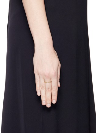 Jo Hayes Ward - 'Single Hex' diamond 18k yellow gold ring