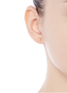 Jo Hayes Ward '3 Cube Grid' 18k yellow gold stud earrings
