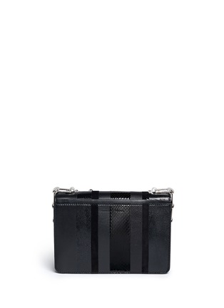 Back View - Click To Enlarge - Proenza Schouler - 'Hava Chain' metallic pompom leather flap bag