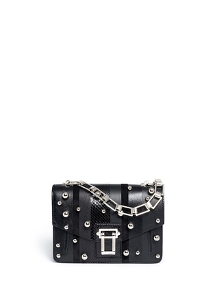 Main View - Click To Enlarge - Proenza Schouler - 'Hava Chain' metallic pompom leather flap bag