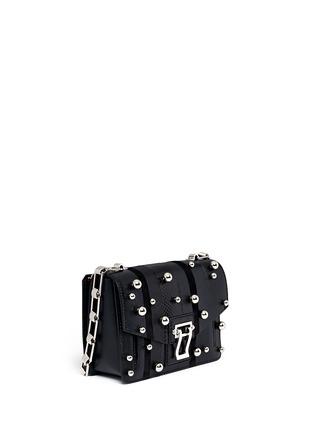 Figure View - Click To Enlarge - Proenza Schouler - 'Hava Chain' metallic pompom leather flap bag