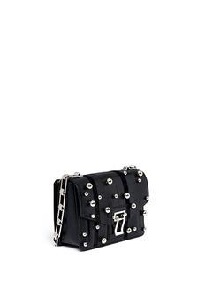 PROENZA SCHOULER'Hava Chain' metallic pompom leather flap bag