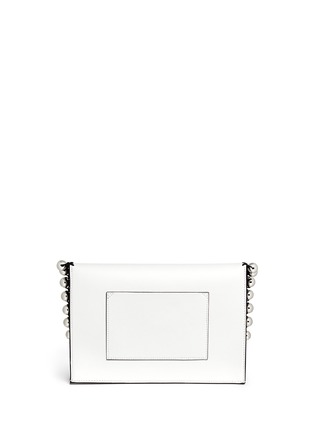 Back View - Click To Enlarge - Proenza Schouler - 'Lunch Bag' small metallic pompom crochet leather clutch