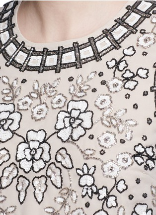 Detail View - Click To Enlarge - Needle & Thread - 'Antique Lace' sequin bead floral embellished top