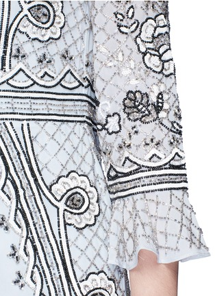Detail View - Click To Enlarge - Needle & Thread - 'Scallop lace' sequin bead floral embellished dress