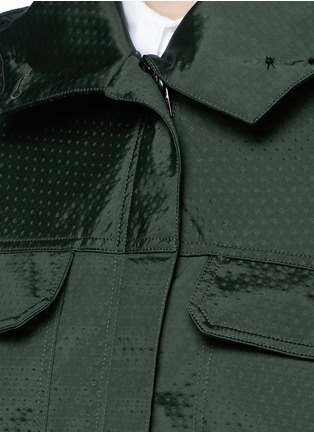 Detail View - Click To Enlarge - AREA - Fur trim dot embossed parka
