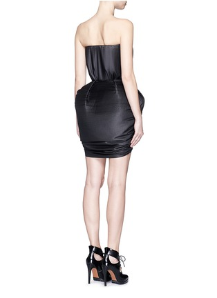 Back View - Click To Enlarge - DICE KAYEK - Made-to-Order<br/><br/>Plissé pleat strapless tulip dress