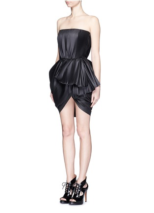 Figure View - Click To Enlarge - DICE KAYEK - Made-to-Order<br/><br/>Plissé pleat strapless tulip dress