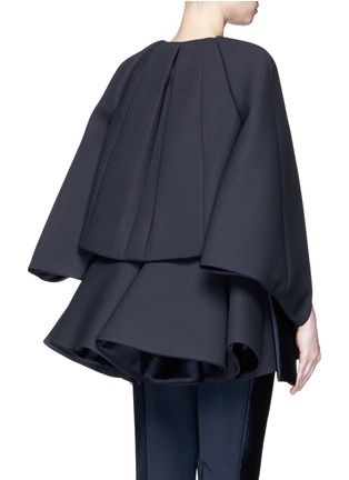 Back View - Click To Enlarge - DICE KAYEK - Made-to-Order<br/><br/>'Jumbo' ruffle pleat crepe cape