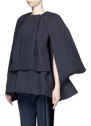 Front View - Click To Enlarge - DICE KAYEK - Made-to-Order<br/><br/>'Jumbo' ruffle pleat crepe cape