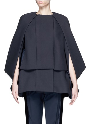 Main View - Click To Enlarge - DICE KAYEK - Made-to-Order<br/><br/>'Jumbo' ruffle pleat crepe cape