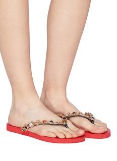 Uzurii 'Colorful Diana' crystal thong sandals