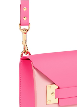 Detail View - Click To Enlarge - Sophie Hulme - 'Milner Mini' colourblock leather envelope crossbody bag