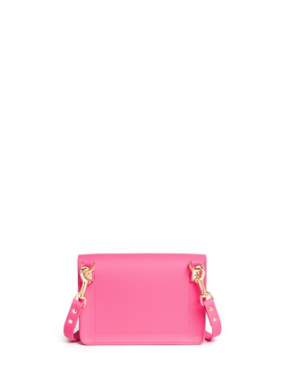 Back View - Click To Enlarge - Sophie Hulme - 'Milner Mini' colourblock leather envelope crossbody bag