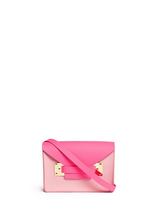Main View - Click To Enlarge - Sophie Hulme - 'Milner Mini' colourblock leather envelope crossbody bag