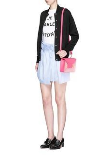 SOPHIE HULME'Milner Mini' colourblock leather envelope crossbody bag