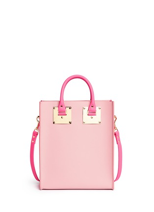 Back View - Click To Enlarge - Sophie Hulme - 'Albion Mini' colourblock leather tote