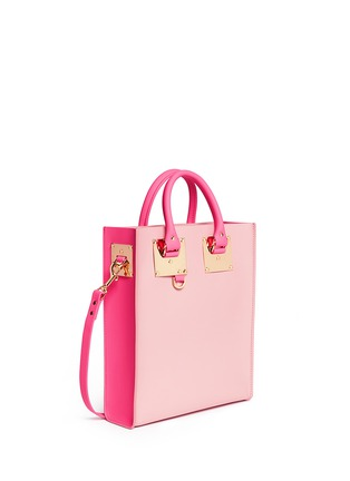 Front View - Click To Enlarge - Sophie Hulme - 'Albion Mini' colourblock leather tote