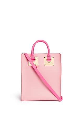 Main View - Click To Enlarge - Sophie Hulme - 'Albion Mini' colourblock leather tote