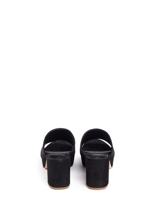 Back View - Click To Enlarge - Mansur Gavriel - Block heel suede mules