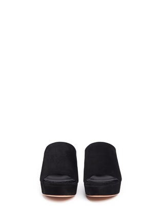 Front View - Click To Enlarge - Mansur Gavriel - Block heel suede mules